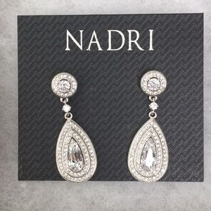 Nadri Pear Shaped Drop Earrings
